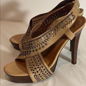 DVF Perforated Crisscross Strap Wooden Heels (9)